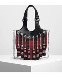 Charles & Keith Tassel Detail Hobo Bag - Multicolor