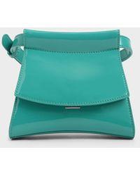 Charles & Keith Patent Belt Bag - Green