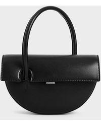 Charles & Keith Top Handle Semi-circle Bag - Black