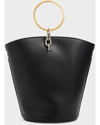 Charles & Keith Large Bracelet Bucket Bag - Black
