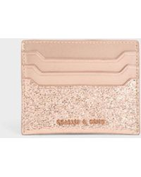 Charles & Keith Glitter Card Holder - Multicolor