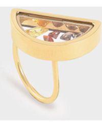 Charles & Keith Semi-circle Floating Locket Ring - Metallic