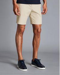 Charles Tyrwhitt Cotton Chino Shorts - Natural