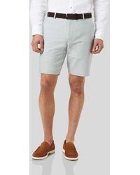 Charles Tyrwhitt Linen Cotton Shorts - Grey