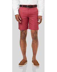 Charles Tyrwhitt Linen Cotton Shorts - Red