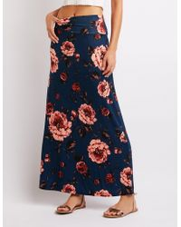 Charlotte Russe - Floral Maxi Skirt - Lyst