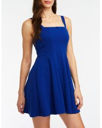 Charlotte Russe - Pleated Skater Dress - Lyst