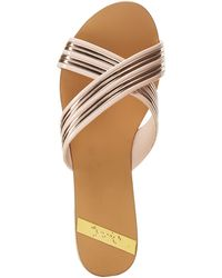 Charlotte Russe - Qupid Metallic Band Slide Sandals - Lyst