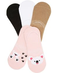 Charlotte Russe - Koala Shoe Liners - 5 Pack - Lyst