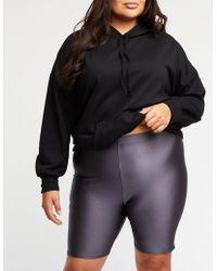 Charlotte Russe - Plus Size Shiny Bike Shorts - Lyst