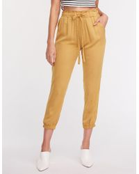 Charlotte Russe - Woven Drawstring Joggers - Lyst
