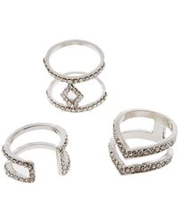 Charlotte Russe - Statement Rings - 3 Pack - Lyst