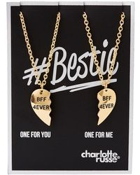 Charlotte Russe - Bff 4ever Pendant Necklace - 2 Packs - Lyst