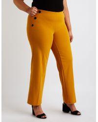 ef58d221119 Lyst - Charlotte Russe Shadow Stripe Wide Leg Pants in Purple - Save 50%