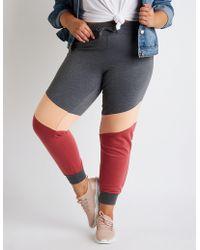 Charlotte Russe - Plus Size Color Block Jogger Pants - Lyst