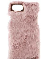 Lyst - Halogen Faux Fur Pom Bag Charm in Pink 00c9e10af8eb7