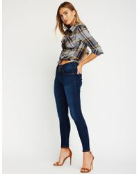 Charlotte Russe - High Waist Push Up Skinny Jeans - Lyst
