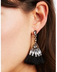 Charlotte Russe - Rhinestone & Tassel Earrings - 3 Pack - Lyst