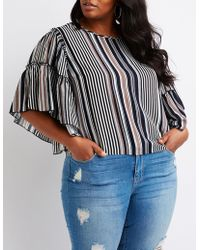 Charlotte Russe - Plus Size Striped Top - Lyst