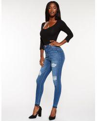 Charlotte Russe - Refuge High Rise Skinny Jeans - Lyst