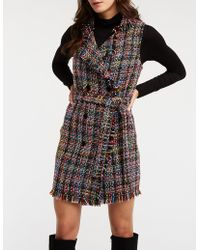 Charlotte Russe - Tweed Double Breasted Button Up Dress - Lyst