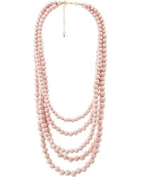 Charlotte Russe - Multi-beaded Layering Necklace - Lyst