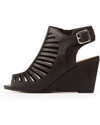 Charlotte Russe - Laser Cut Wedge Sandals - Lyst
