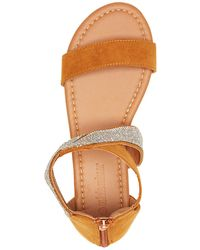 Charlotte Russe - Rhinestone Flat Sandals - Lyst