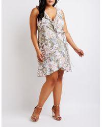 Charlotte Russe - Plus Size Floral Wrap Dress - Lyst