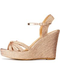 b825181d0ef4 Lyst - Charlotte Russe Bamboo Espadrille Wedge Sandals in Brown