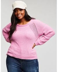 Lyst Charlotte Russe Plus Size Chenille V Neck Pullover Sweater In