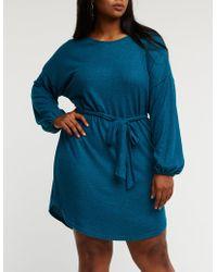 Charlotte Russe - Plus Size Balloon Sleeve Knit Dress - Lyst
