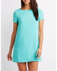 Charlotte Russe - Caged Shift Dress - Lyst