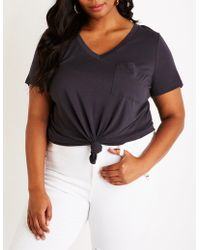 Charlotte Russe - Plus Size Confident Tee - Lyst