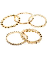 Charlotte Russe - Mixed Bangle Set - 5 Pack - Lyst