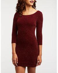 3114d3f29e1d Lyst - Charlotte Russe Glitter Geometric Print Bodycon Dress in ...