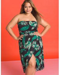 Charlotte Russe - Plus Size Tropical Wrap Dress - Lyst