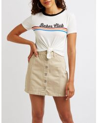 Charlotte Russe - Babe Club Graphic Tee - Lyst