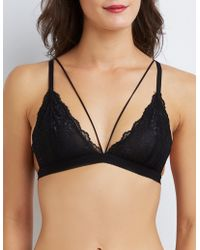 931cad46d6 Lyst - Charlotte Russe Lace Caged Cut-out Bralette in Black