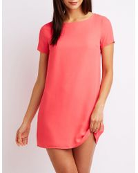 Charlotte Russe - Caged Back Shift Dress - Lyst