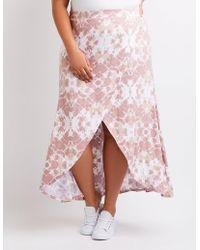 ef399d1abcf40 Charlotte Russe - Plus Size Tie Dye Wrap Maxi Skirt - Lyst