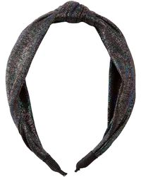 Charlotte Russe - Metallic Knotted Headband - Lyst