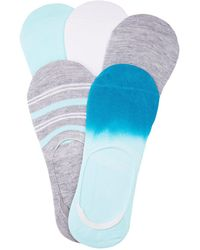 Charlotte Russe - Printed Shoe Liners - 5 Pack - Lyst