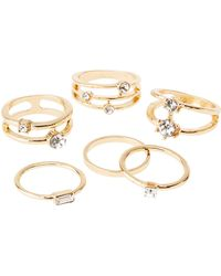 Charlotte Russe - Stacking Rings - 5 Pack - Lyst