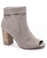 Chinese Laundry - Tom Girl Suede Heeled Bootie - Lyst