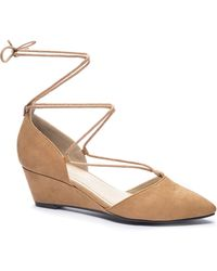 Chinese Laundry Trissa Pointed Toe Wedge - Multicolor