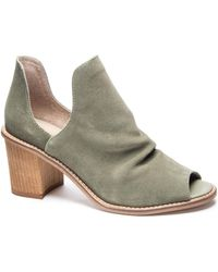Chinese Laundry Clarita Split Shaft Suede Bootie - Green