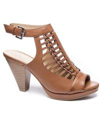 Chinese Laundry Waves Peep-toe Bootie - Brown