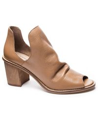 Chinese Laundry Carlita Peep Toe Bootie - Brown
