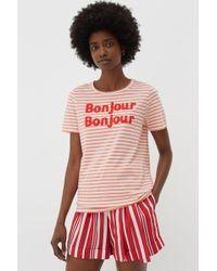 Chinti & Parker Bonjour T-shirt - Pink